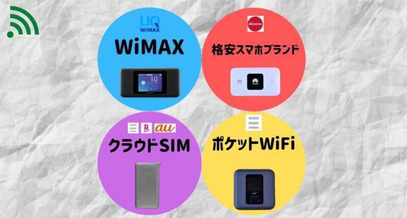 モバイルWiFiルーターサービスの種類