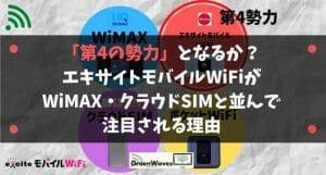 「第4の勢力」となるか?エキサイトモバイルWiFiがWiMAX・クラウドSIMと並んで注目される理由